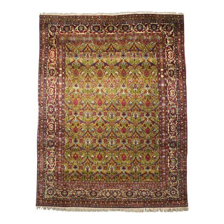 Antique Persian Isfahan Area Rug with Traditional Modern Style