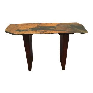 Mid-Century Style Sculptural Slate Console Table For Sale
