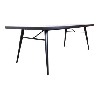 Paul McCobb Planner Group Black Lacquered Extension Dining Table, Newly Restored For Sale