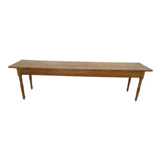19th Century French Faux Painted Harvest Table For Sale