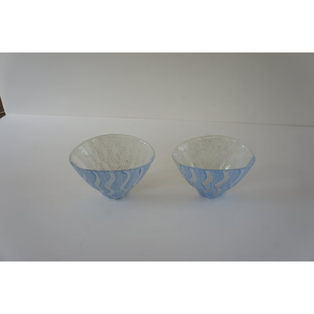 Mid-Century Modern Kosta Boda Monica Backstrom Hand-Painted Bowls - a Pair For Sale - Image 3 of 11