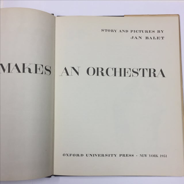 What Makes an Orchestra 1951 Jan Balet For Sale - Image 5 of 10