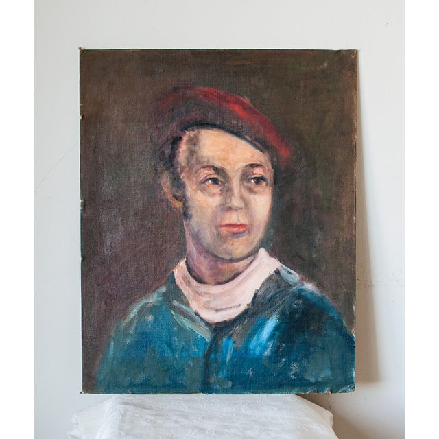 Vintage Gent Sailor Oil Painting on Board - Image 2 of 4