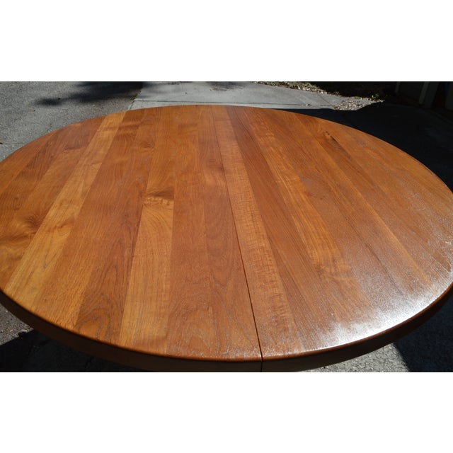 Mid-Century Danish Modern Teak Dining Table - Image 5 of 7