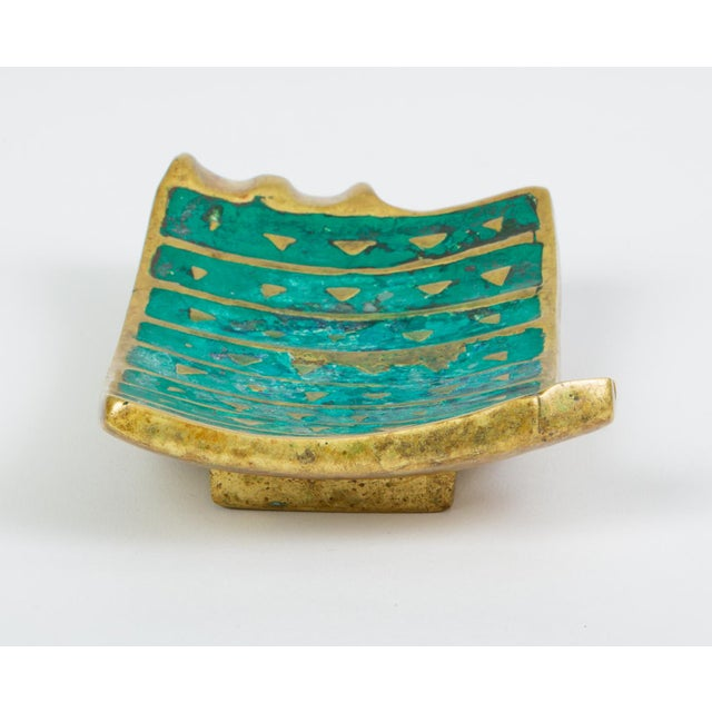 Mexican Modern Cloisonné Ashtray by Pepe Mendoza For Sale - Image 9 of 11