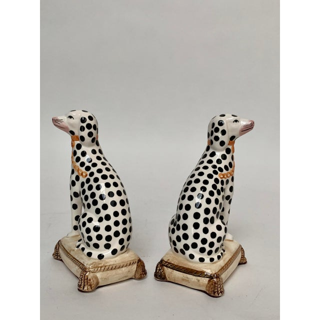 1960s Staffordshire Style Porcelain Dalmatian Dog Bookends – a Pair For Sale - Image 5 of 8