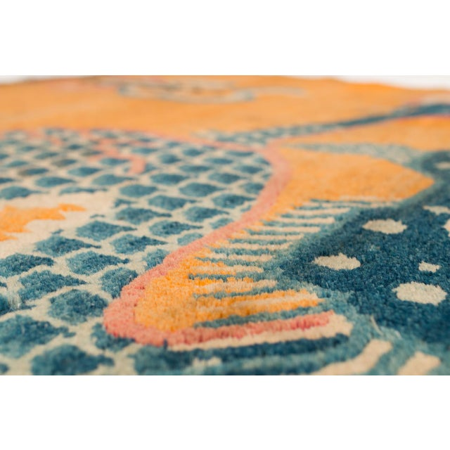 """Chinese 19th Century Dragon Rug-4'1'x5'4"""" For Sale - Image 3 of 10"""