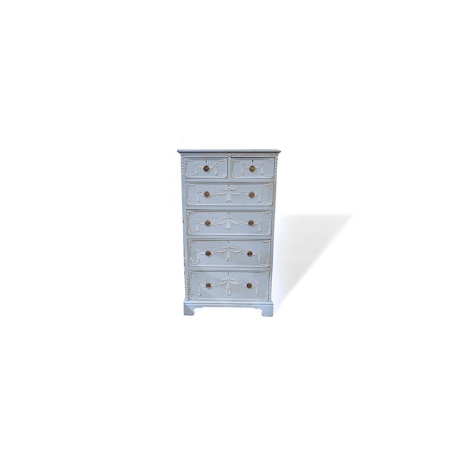 Paint Early 20th Century Adams Style Tall Chest of Drawers, English For Sale - Image 7 of 11