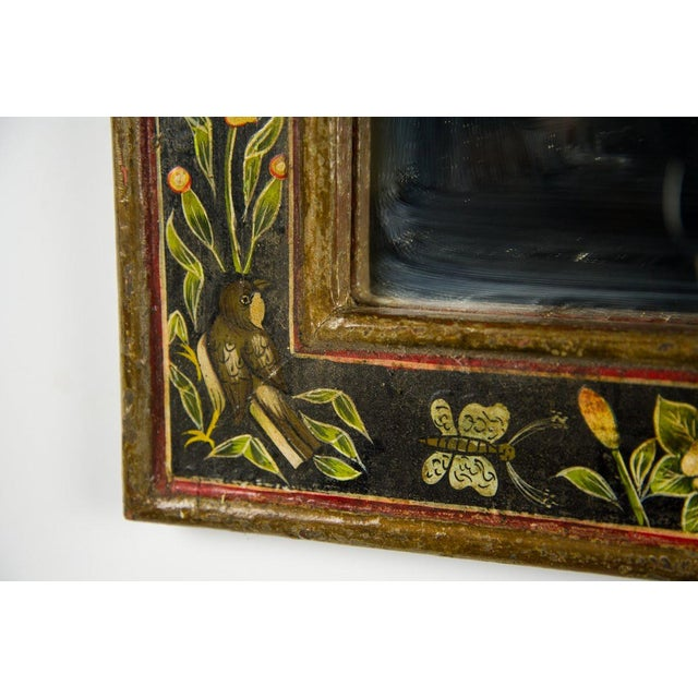 Victorian Style Hand Painted Wall Mirror For Sale In Atlanta - Image 6 of 9