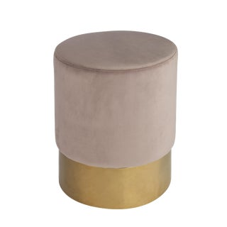 Paulette Pink and Gold Stool