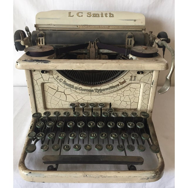 Smith & Corona Shabby Chic Ivory Typewriter - Image 2 of 4