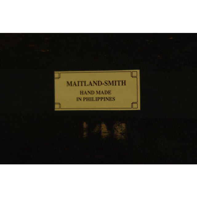 Maitland Smith Inlaid Walnut Games Table Top Occasional Table For Sale - Image 10 of 11