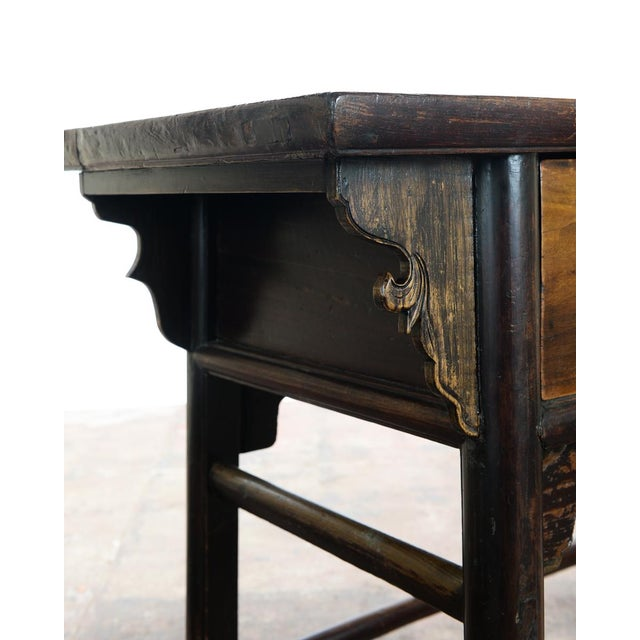 Asian Chinese Antique Wooden Altar Table With Drawers For Sale - Image 3 of 10