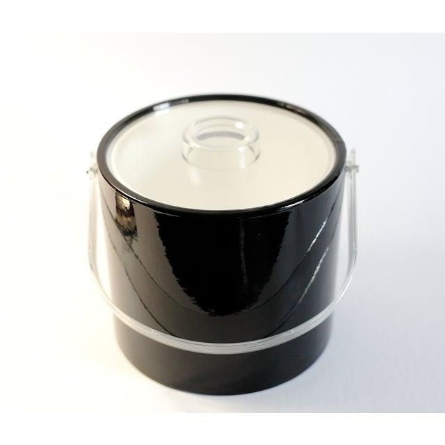 Black & Lucite Ice Bucket - Image 2 of 7