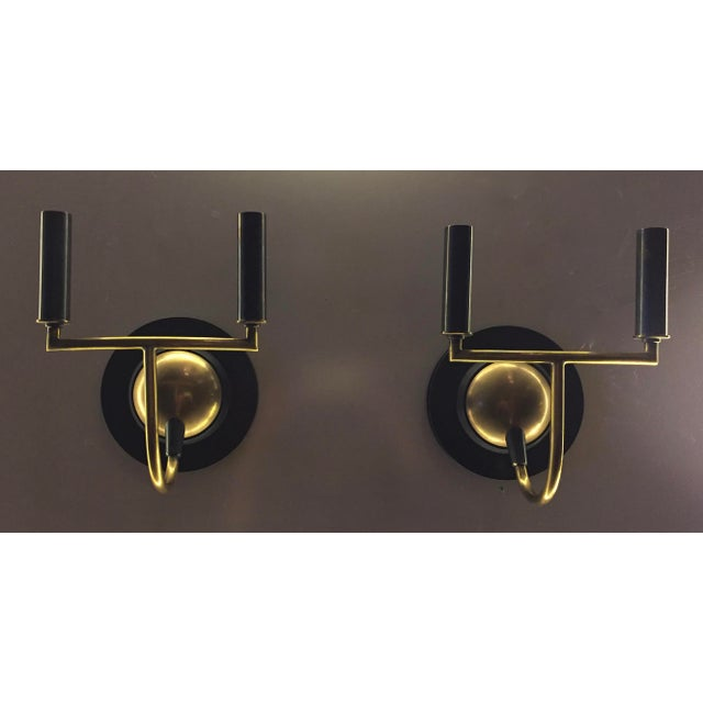 Visual Comfort Bronze & Antiqued Brass Sconces - a Pair - Image 3 of 6