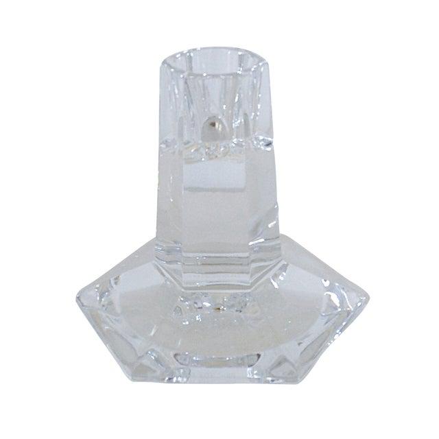 Frank Lloyd Wright Crystal Candlestick by Tiffany For Sale