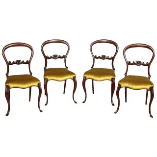 Four 19th Century Louis Philippe Mahogany Chairs, circa 1880 For Sale