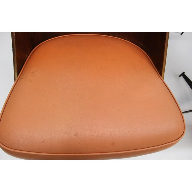 Mid Century Modern Bent Plywood and Vinyl Dining Chairs For Sale - Image 9 of 13