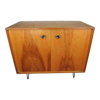 1950s Mid-Century Modern Mengel Two Door Cabinet With Hairpin Legs For Sale
