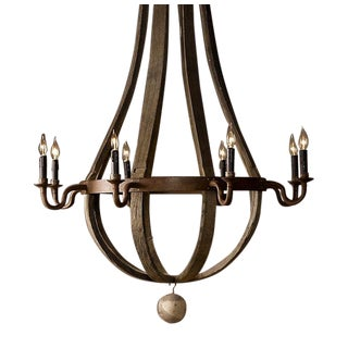 Industrial Wood & Iron Chandelier