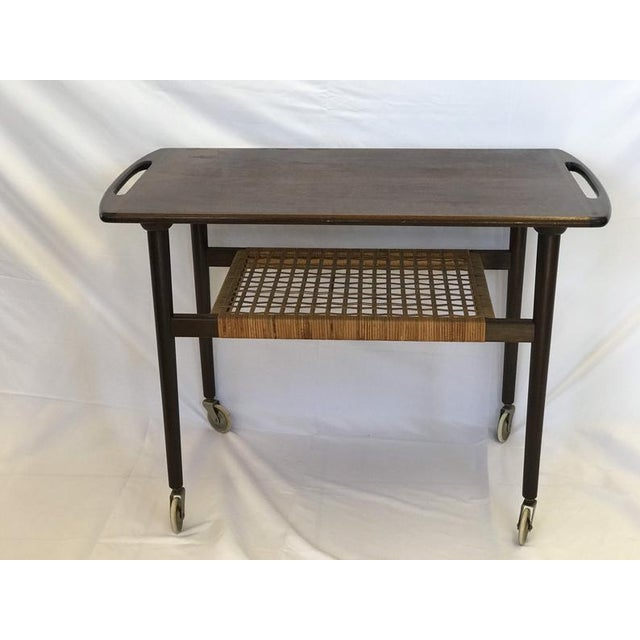 Niels Moller 1960s J Moller Danish Mid Century Modern Rosewood Stand Table For Sale - Image 4 of 4