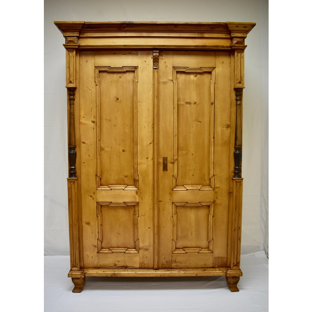 Pine Two Door Armoire For Sale - Image 13 of 13