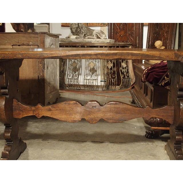 Wood 17th Century Italian Walnut Wood Table For Sale - Image 7 of 13