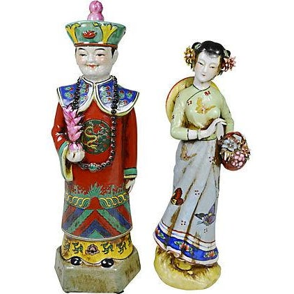 Vintage Chinese Ceramic Couple - Image 1 of 5