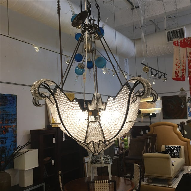 Jeweled Swan Chandelier - Image 5 of 7