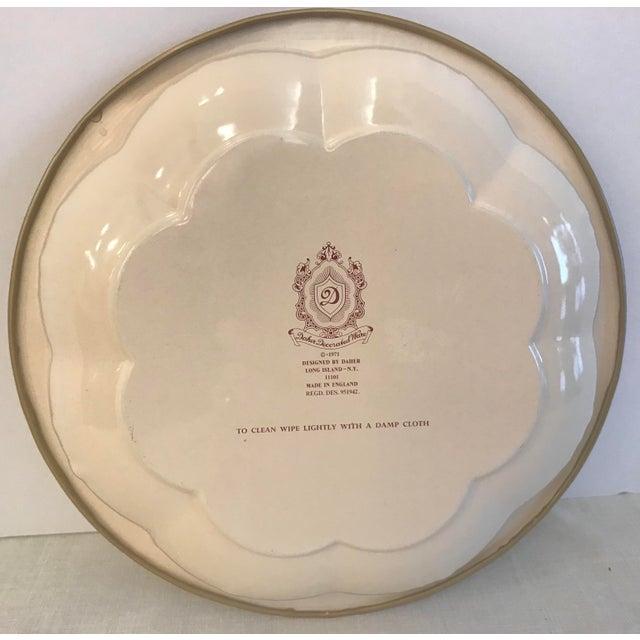 Asian Vintage Oriental Theme English Tin Bowl For Sale - Image 3 of 9