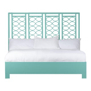 Infinity Bed King - Turquoise For Sale