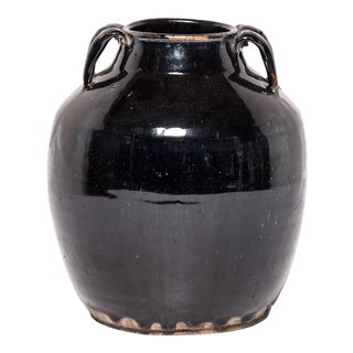 Early 20th Century Chinese Glazed Soy Vessel For Sale