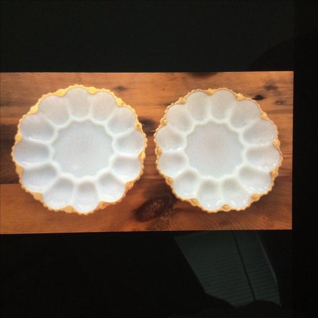 Vintage Deviled Egg or Oyster Platters - A Pair - Image 2 of 8