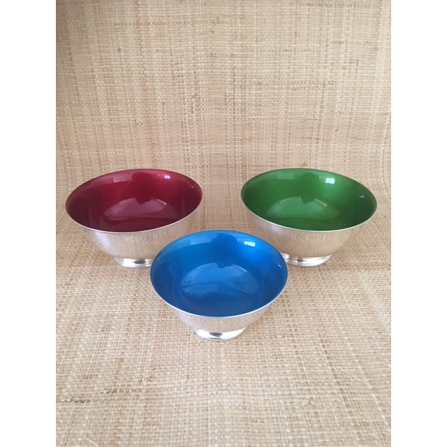 Reed and Barton Revere Bowls With Enameled Interior - Set of 3 For Sale - Image 12 of 12