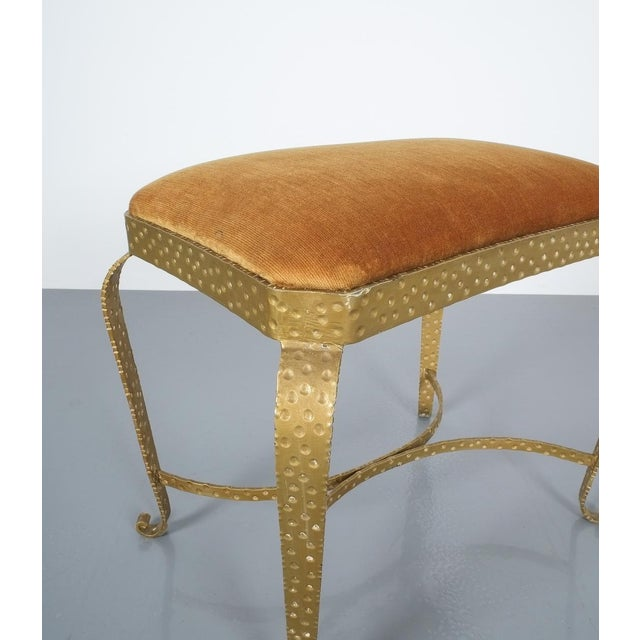 Pair Golden Pier Luigi Colli Iron Bedroom Benches Italy, 1950 For Sale - Image 10 of 12