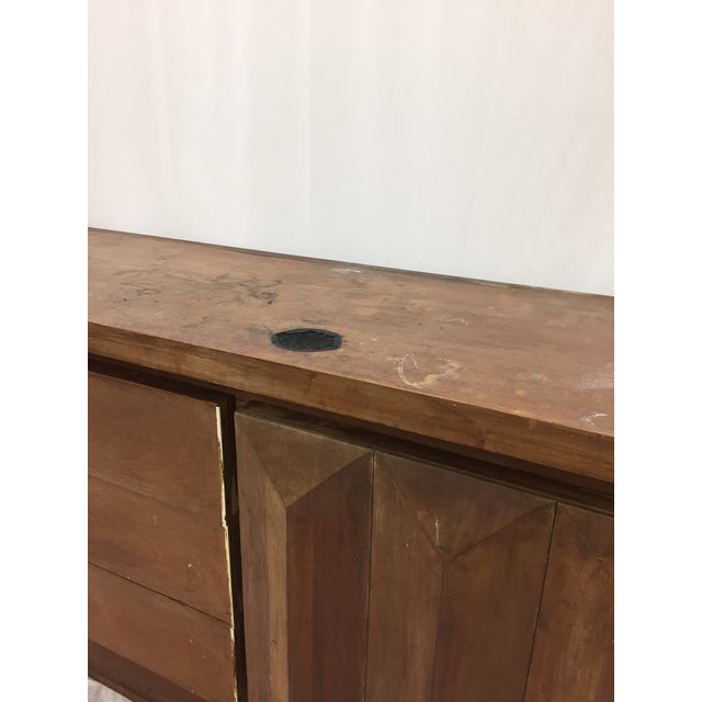 Mid-Century Modern Brutalist Kagan Style Dresser For Sale In Raleigh - Image 6 of 11