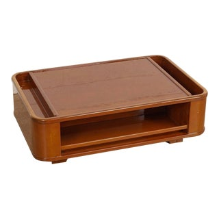 Mid Century Mod Italian Lacquered Wood Coffee Table For Sale