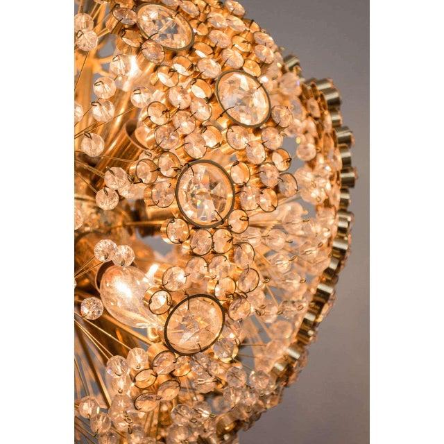 Gilt Brass J.L. Lobmeyr Chandelier For Sale - Image 5 of 9