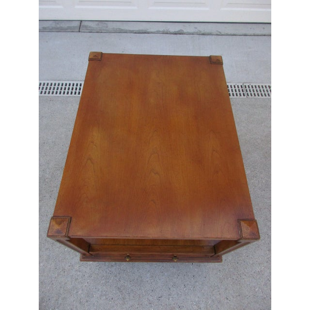 Gold Mid-Century Modern Fine Arts Furniture Co. Two-Tiered Side Table For Sale - Image 8 of 11