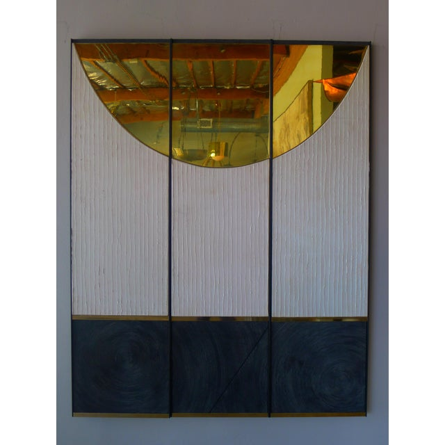 Cream Textured Wall Art Triptych by Paul Marra - 3 Panels For Sale - Image 8 of 10