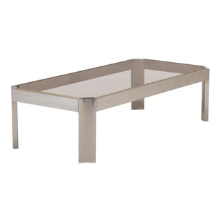 French Aluminum Coffee Table 1970s For Sale