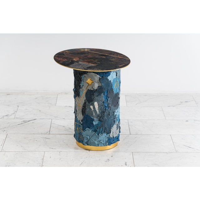Metal Concrete and Steel Occasional Table, Usa, 2019 For Sale - Image 7 of 12