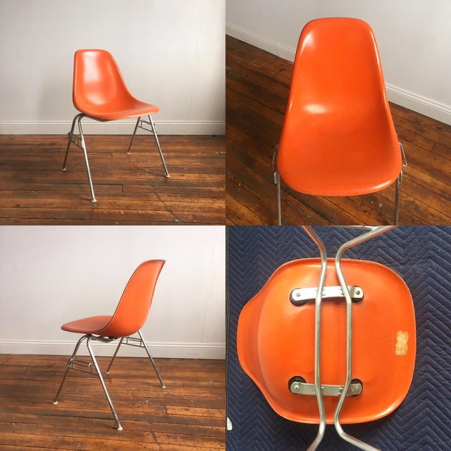 Vintage Herman Miller Eames Fiberglass Shell Chairs - Set of 4 - Image 8 of 10