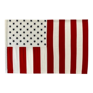 Vertical 50 Star American Flag, Wall Art Decor For Sale