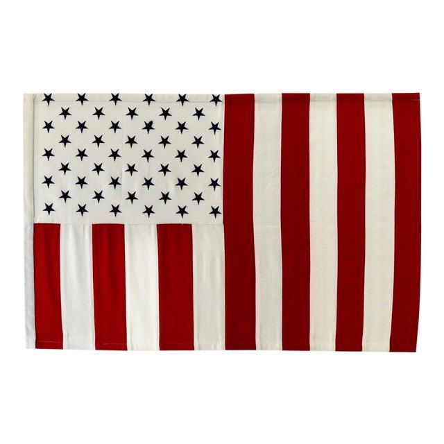Vertical 50 Star American Flag, Wall Art Decor For Sale