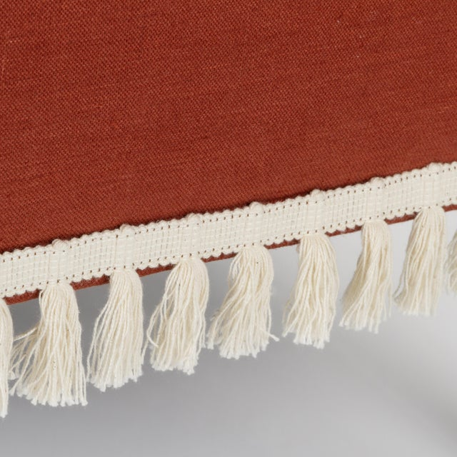 Textile Casa Cosima Sintra Chair in Paprika Linen, a Pair For Sale - Image 7 of 11