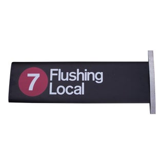 New York City Subway '7' Train Sign For Sale