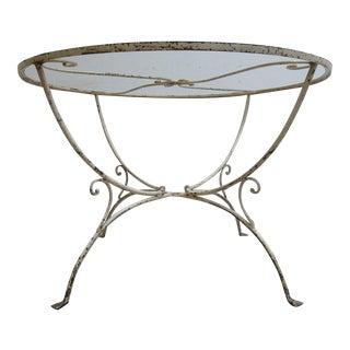 Vintage Mid-Century Salterini Wrought Iron Outdoor Dining Table