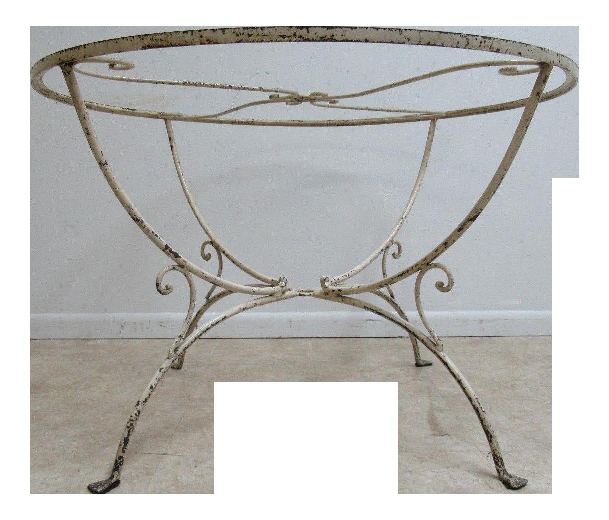 Vintage Mid Century Salterini Wrought Iron Outdoor Dining Table