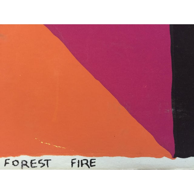 "1960s Op-Art Sidney Budnick Silkscreen ""Forest Fire"" For Sale - Image 9 of 10"